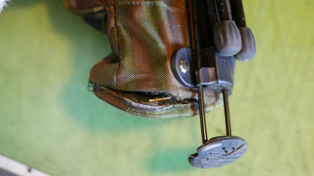 (PEARLY GATES)パーリーゲイツ/セルフスタンドバッグの底の縫製解れ
