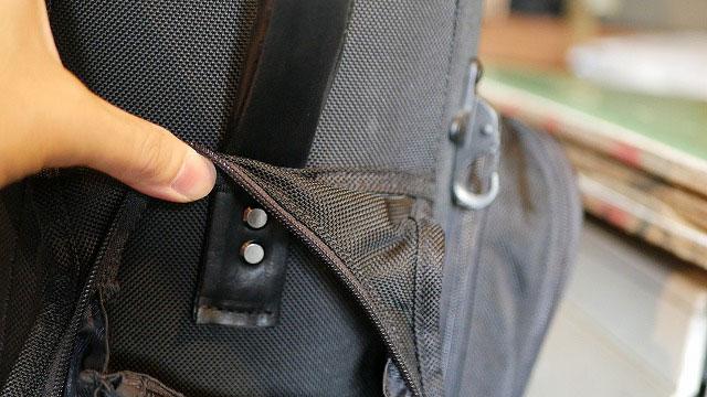 (TUMI)トゥミ/キャディバッグのハンドルを本体に固定