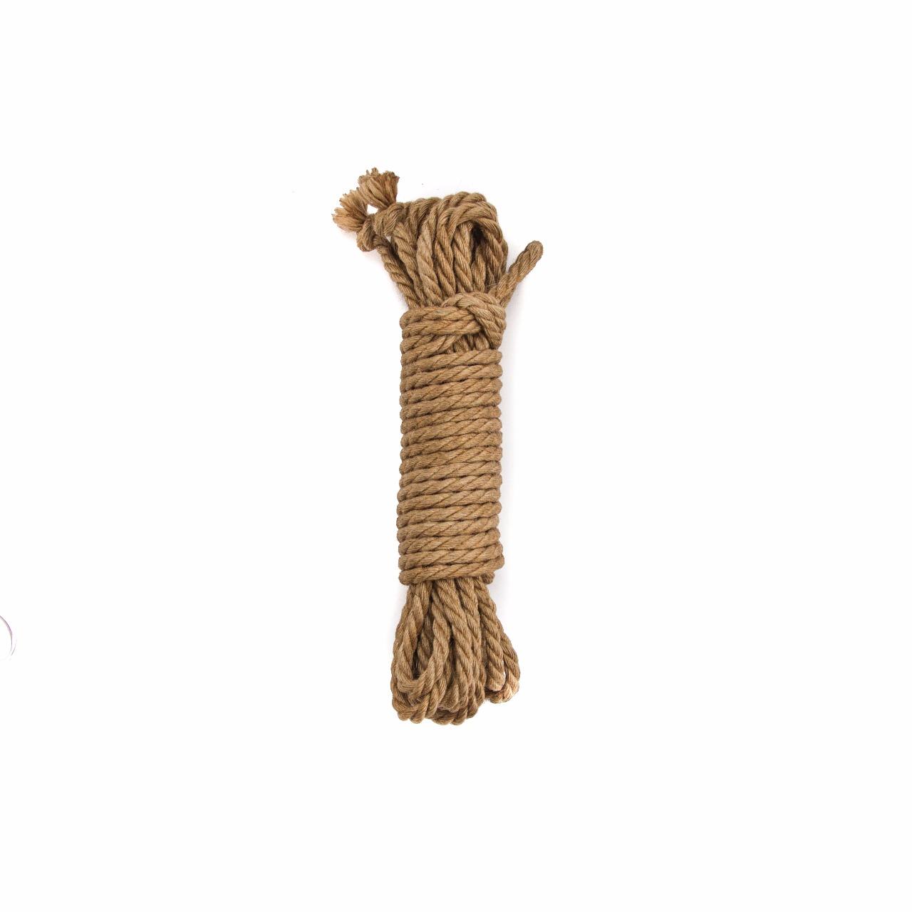 Верёвка для бондажа крафтовая, джут, 6мм
