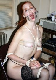 Awesome Redhead Amateur Gets Gagged and Tightly Bound for Discipline