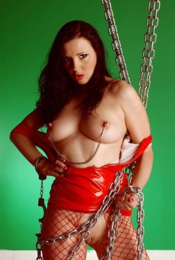 Awesome Young Redhead in High Heel Boots Gets Chained and Dominated