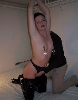 Awesome Young Slave in PVC Gets Stripped, Whipped and Punished Hard