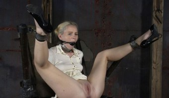 Beautiful Blonde Gets Collared, Bit Gagged and Chained in the Dungeon