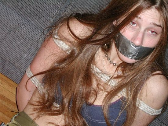 Beautiful Brunette Girlfriend Gets Gagged and Bound by Her Boyfriend