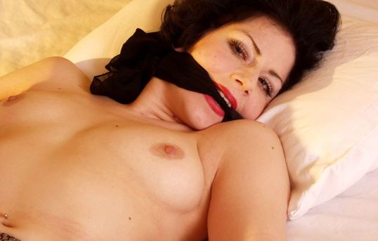 Beautiful Milf Gets Gagged, Restrained and Spread in a Hotel Room