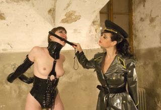 Beautiful Slave Gets Hooded and Punished by Her Hot Military Mistress