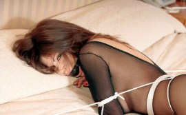 Bondage Queen Ashley Renee Tightly Bound, Ball Gagged and Penetrated