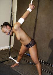 Gorgeous Ebony Amateur Gets Tightly Bound and Ball Gagged