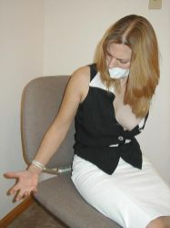 Hot Blond Amateur Gets Bound, Tape Gagged and Stripped for Punishment