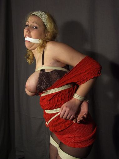 Hot Blonde Gets Cleave Gagged, Tightly Bound and Disciplined Hard
