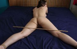 Hot Girlfriend Gets Stripped and Restrained on the Bed for Discipline