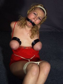 Hot Girlfriend Gets Tightly Bound, Tape Gagged and Trained for Fun