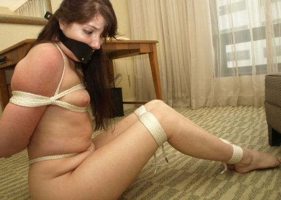 Hot Housewife Stripped, Bound and Gagged in Hotel Room for Discipline