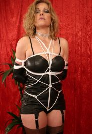 Kinky Mature Blonde in High Heel Boots Gets Tightly Bound and Gagged
