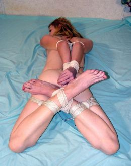 Pretty Girlfriend Gets Bound, Gagged and Disciplined in the Bedroom