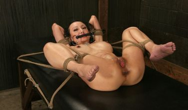 Sexy Asian Gets Restrained, Spread and Penetrated in the Dungeon