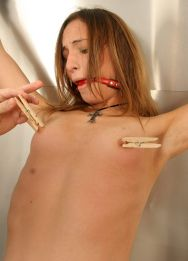 Skinny Amateur Gets Restrained and Tortured Hard for Punishment