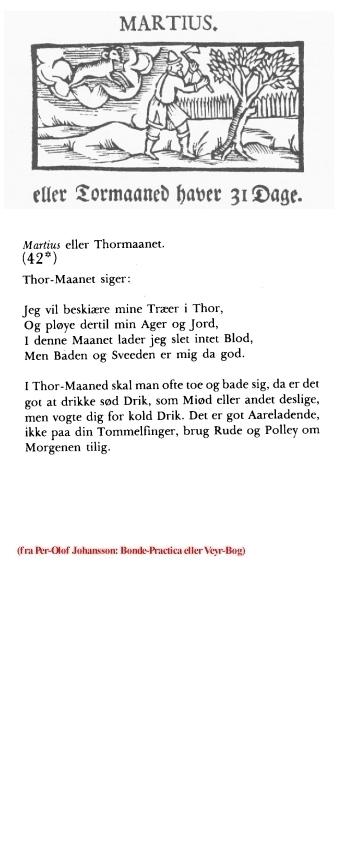 Uge 10 i udvalg fra Pewr-Olof Johansson: Bonde-Practica eller Veyr-Bog