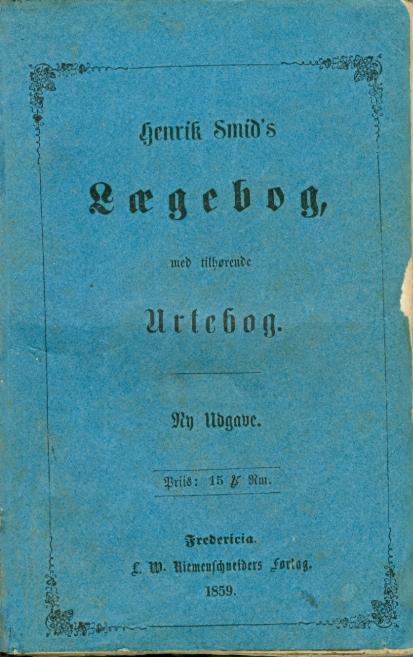 Forside Henrik Smids Lægebog 1859