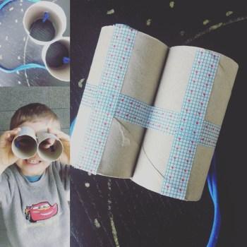 make me craft: binóculos em dia de chuva