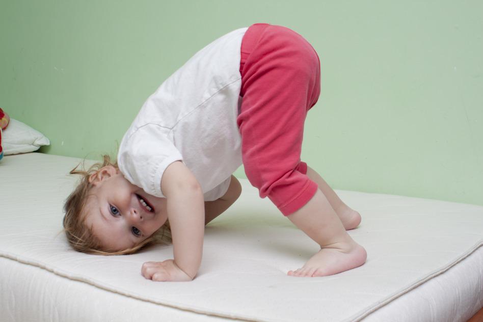 Baby yoga exercise