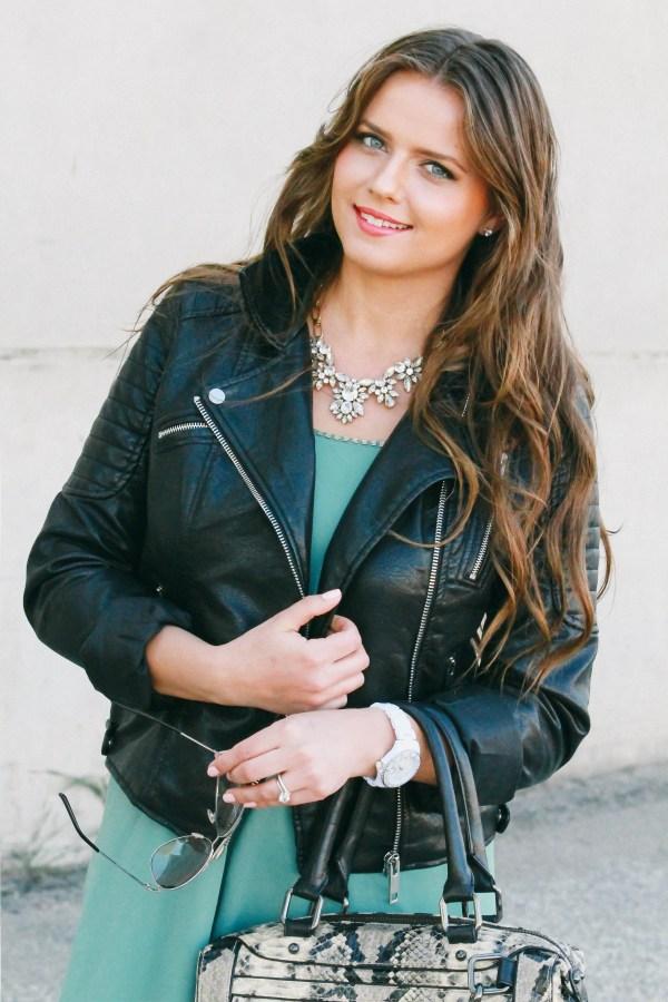 #OOTD // Feminine Layers & Tough-Girl Leather | BondGirlGlam.com