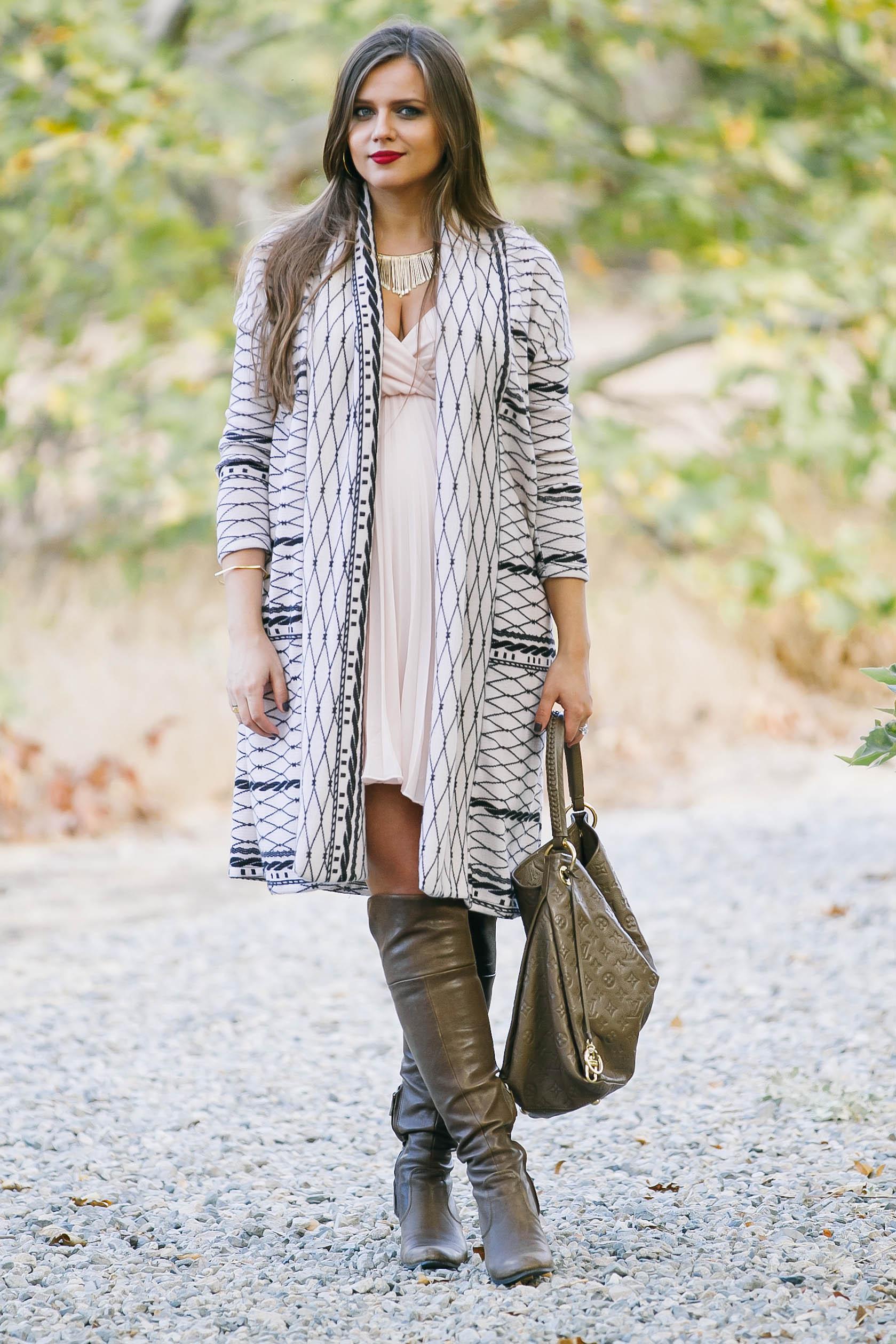 Bumpstyle Long Cardigan Pleated Grecian Dress A Fashion Baby Gear