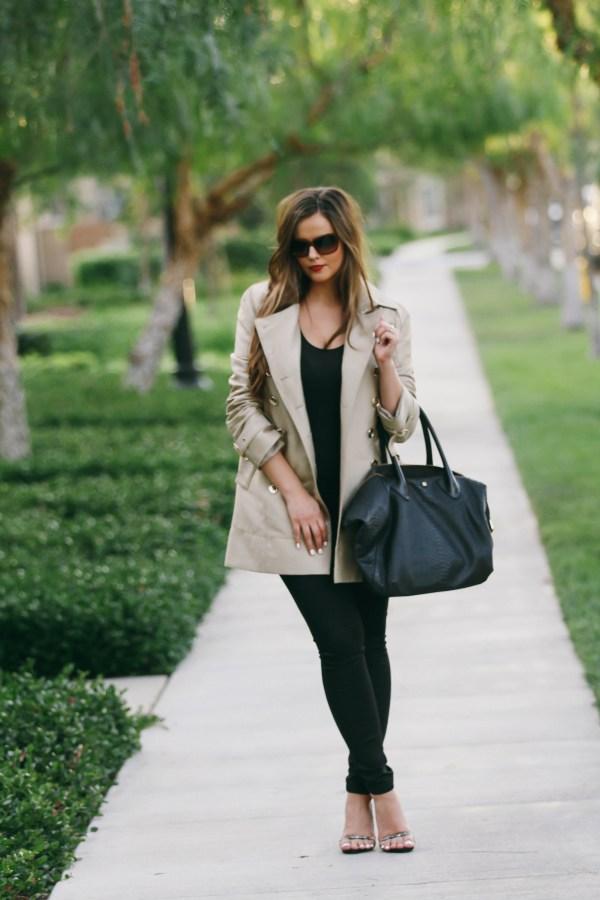 #OOTD // Classic Trench Coat & Black Skinny Jeans | BondGirlGlam.com