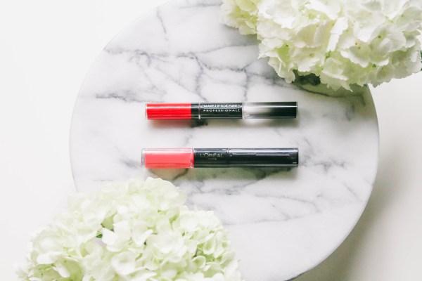 High-End Vs. Drugstore // Make Up For Ever & L'Oreal Paris Long-Lasting Lips | BondGirlGlam.com