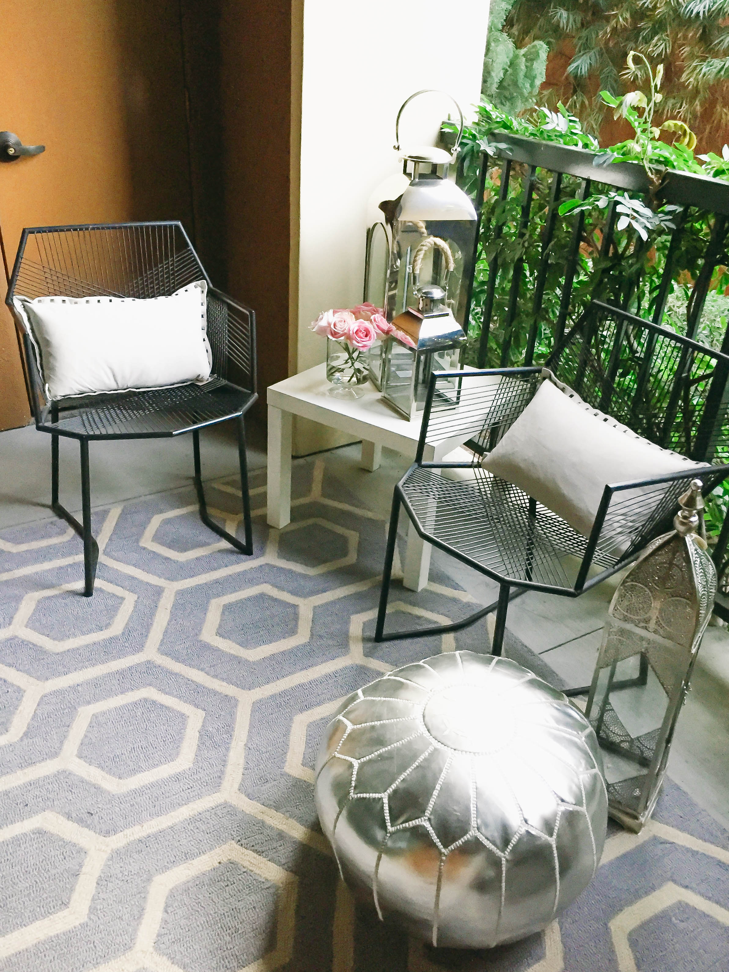 Style At Home // Small Space Moroccan Patio Dcor