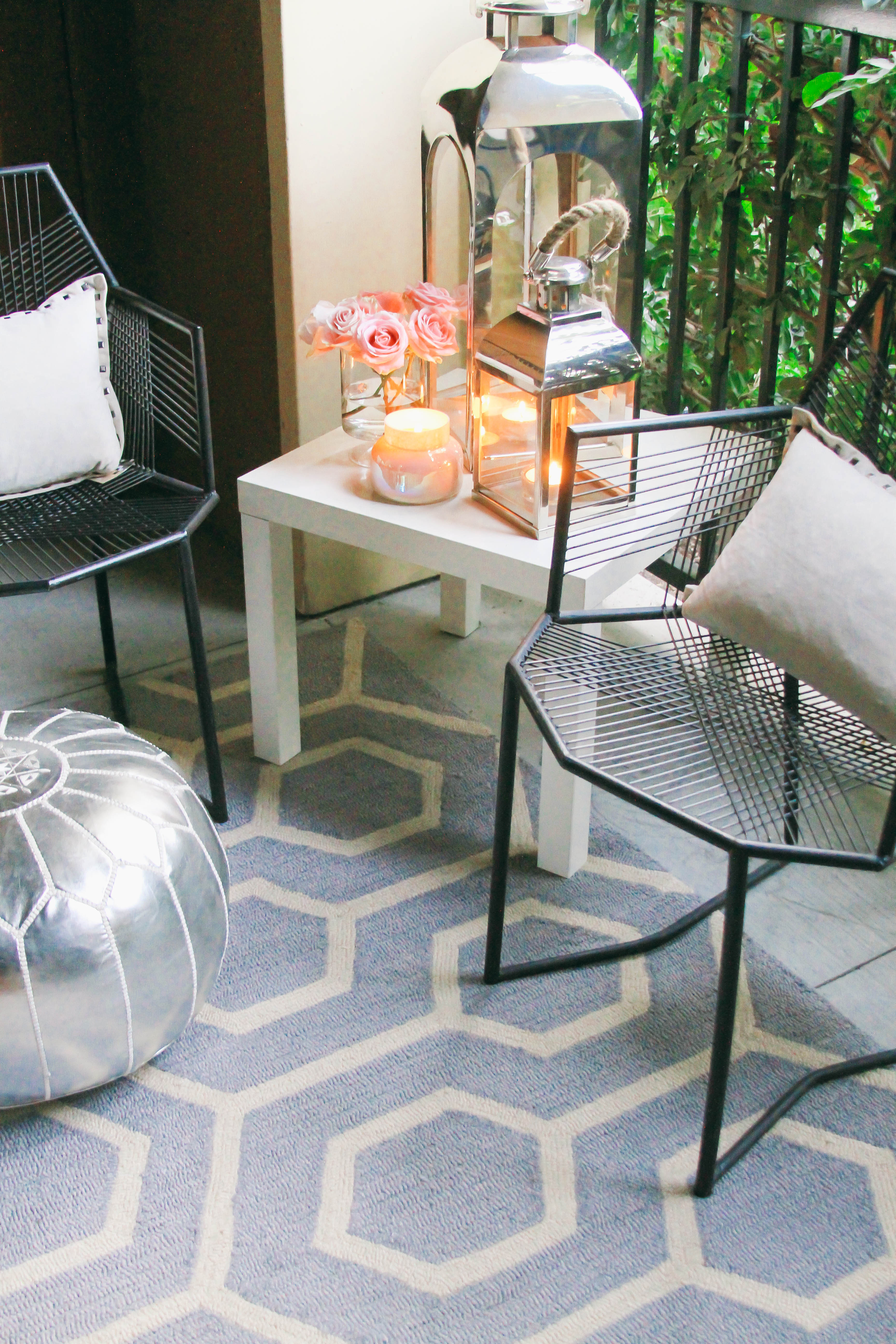 Style At Home Small Space Moroccan Patio Décor