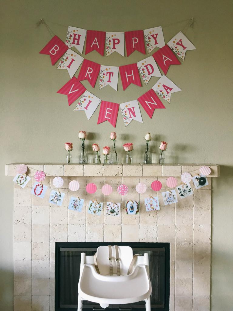 stokke high chair baby bunting pink salon styling vienna's first birthday party | bondgirlglam.com