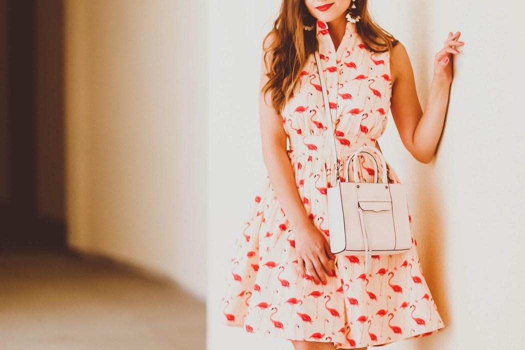 #OOTD // Flamingo Print Dress   BondGirlGlam.com
