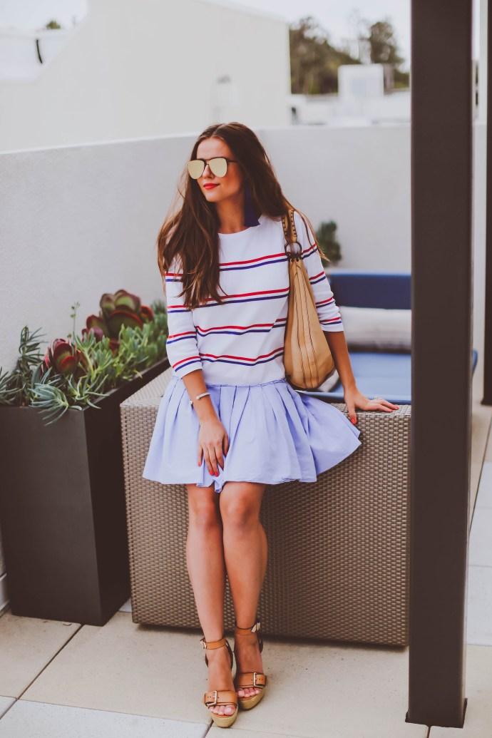 #OOTD // Red, White, & Blue Sweater Dress | BondGirlGlam.com