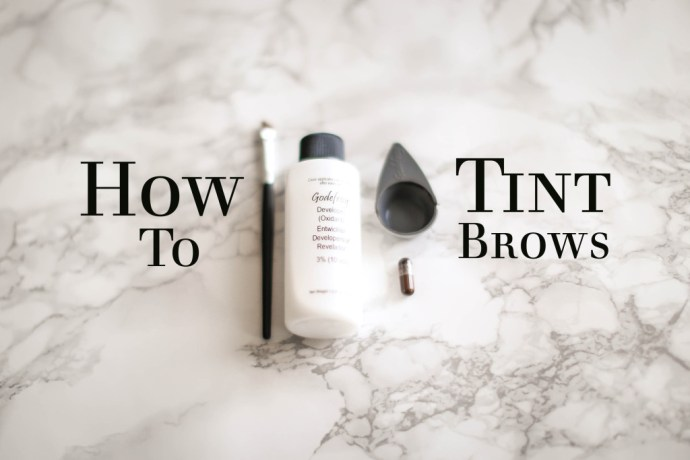 How To // Eyebrow Tinting Tutorial | BondGirlGlam.com