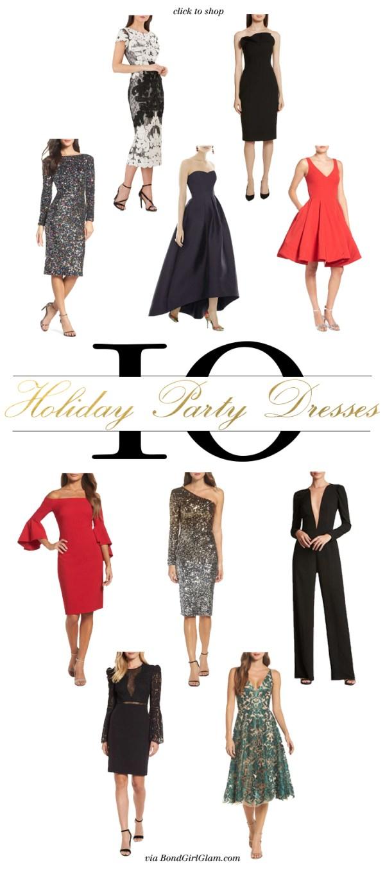 10 Holiday Party Dresses | BondGirlGlam.com