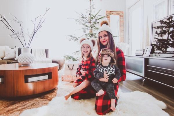Matching Red Buffalo Plaid Family Christmas Pajamas