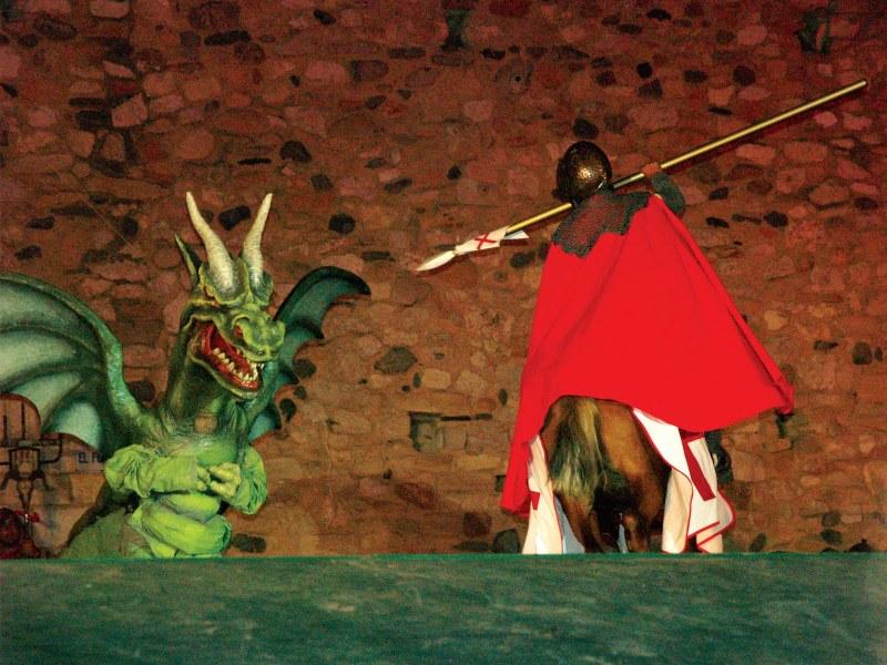 Sant Jordi en de draak Montblanc