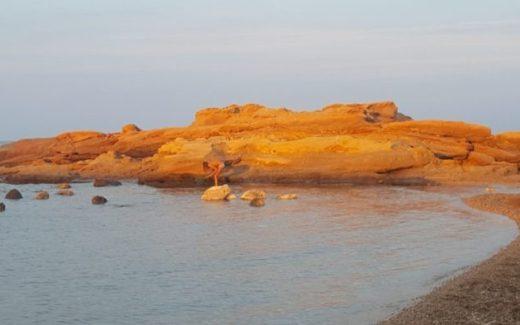 Orange travelpics Tarragona | Platja Santa Lllucia | Stranden El Perello Mar