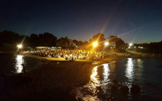 avondpicknick op het strand