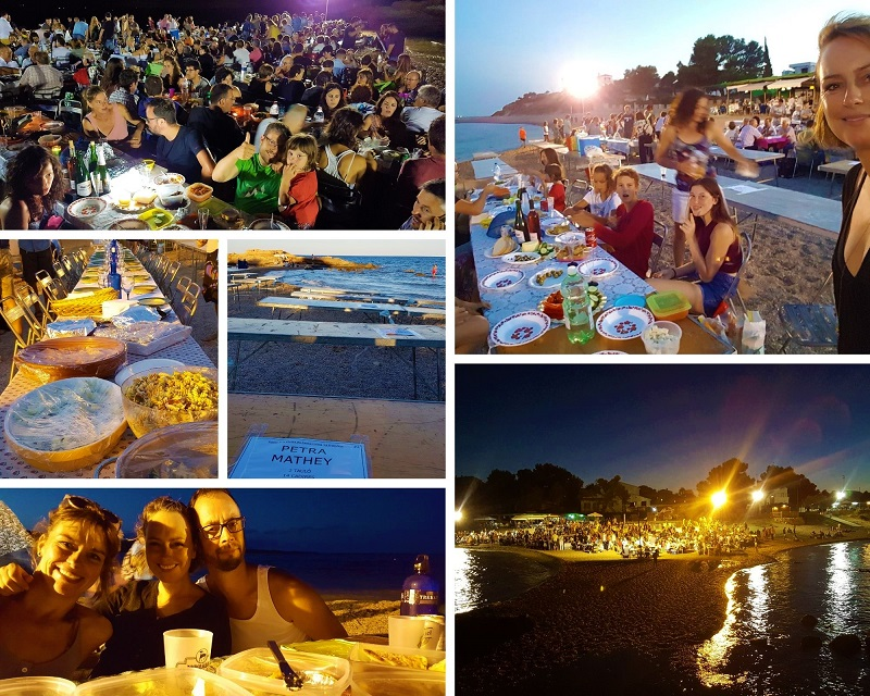 avondpicknick aan zee El Perello