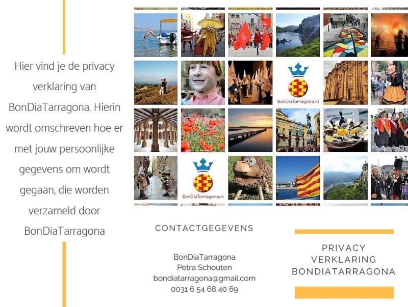 Privacy verklaring BonDiaTarragona | Privacy AVG