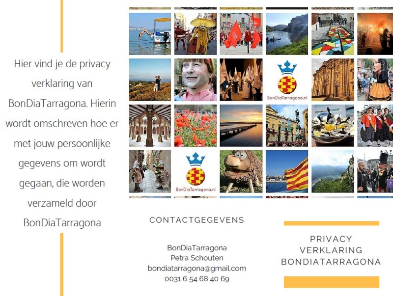 Privacy verklaring BonDiaTarragona | Privacy AVG