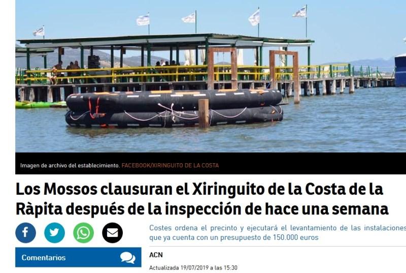 Xiringuito de la Costa | Drijvend restaurant Ebro Delta