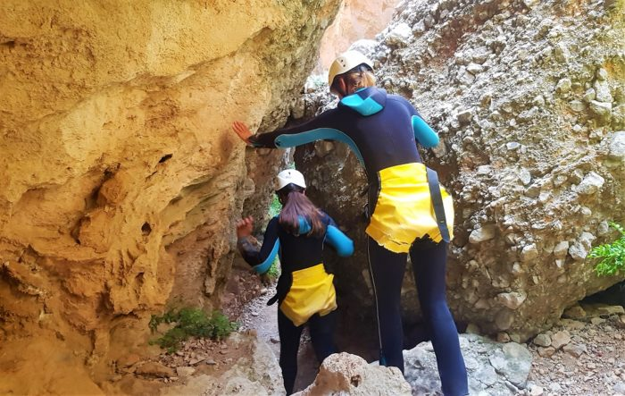 Adventure sport in natuurpark Els Ports