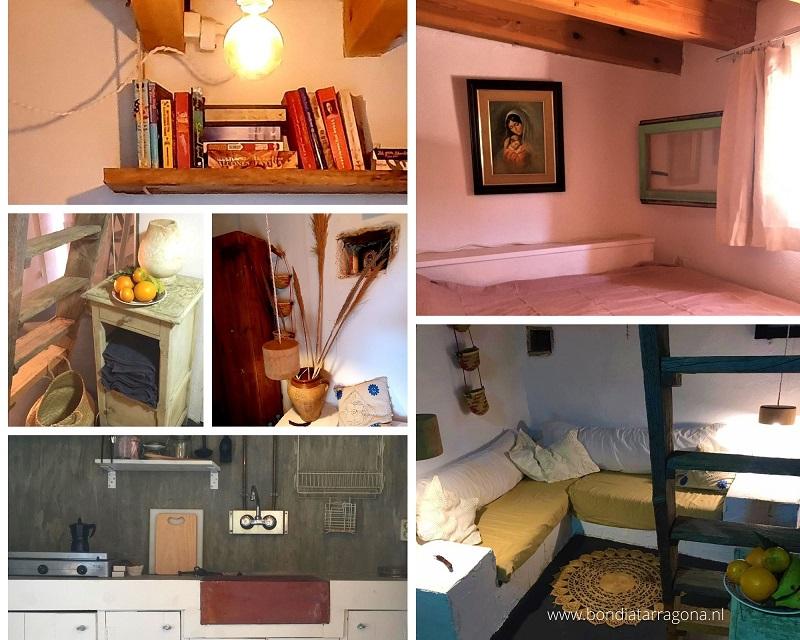 Tiny house vakantiehuis Mont Roig Del Camp. Onthaasten pur sang in natuurhuisje Tarragona