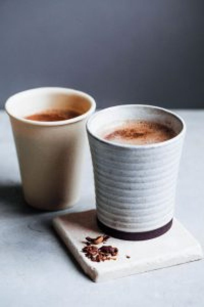 two cups with mill rinks for winter