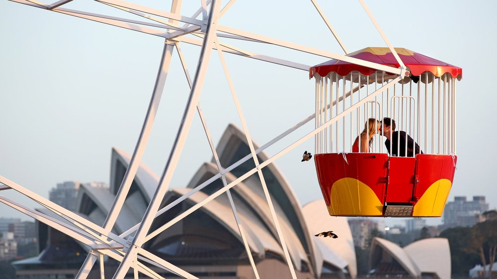 Love at new heights on Sydney Harbour
