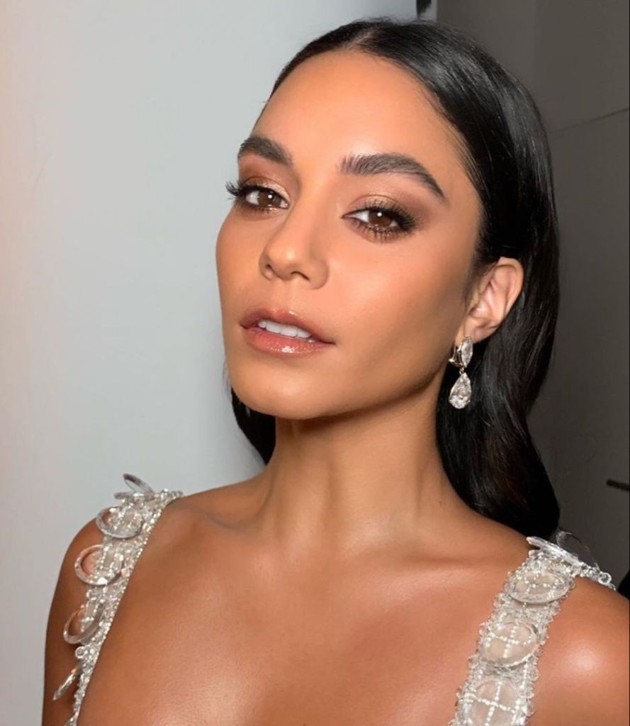 Vanessa Hudgens portrait shot of makeup.