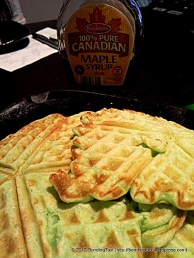 Waffles with Pandan Flavour.